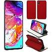 Housse Xeptio Samsung Galaxy A70 Etui rouge Slim