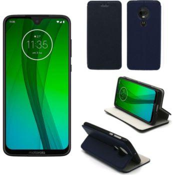Xeptio Motorola Moto G7 Etui bleu Slim