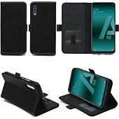 Housse Xeptio Samsung Galaxy A50 portefeuille noir