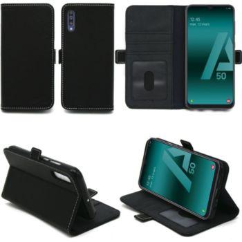 Xeptio Samsung Galaxy A50 portefeuille noir