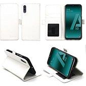 Housse Xeptio Samsung Galaxy A50 portefeuille blanc