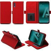 Housse Xeptio Samsung Galaxy A50 portefeuille rouge