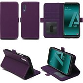 Housse Xeptio Samsung Galaxy A50 portefeuille violet