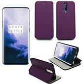 Housse Xeptio One Plus 7 Etui violet Slim