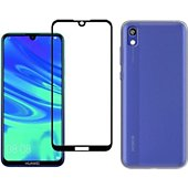 Protège écran Xeptio Huawei Y5 2019 gel tpu et full noir