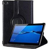 Housse Xeptio Huawei Mediapad M5 Lite rotatif noir