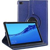 Housse Xeptio Huawei Mediapad M5 Lite rotatif bleu