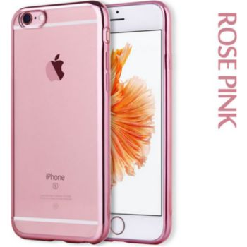 Quick Shot Coque Silicone IPHONE 6/6S Chrome ROSE