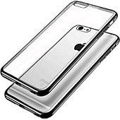 Coque Quick Shot Coque Silicone IPHONE 6+ Chrome NOIR