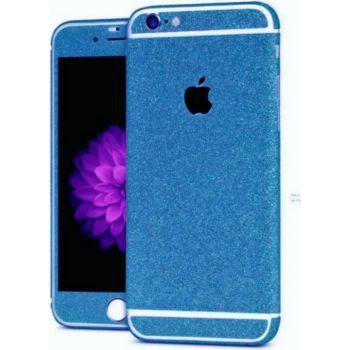 Shot Case Sticker IPHONE 7 Bling Paillettes BLEU