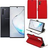Housse Xeptio Samsung Galaxy Note 10 Etui rouge Slim