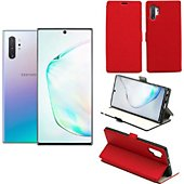 Housse Xeptio Samsung Galaxy Note 10 PLUS Etui rouge