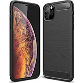 Coque Xeptio Apple iPhone 11 Pro Max carbone noir