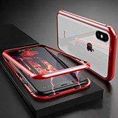 Coque intégrale Shot Case Coque Verre Trempe IPHONE X Max (ROUGE)