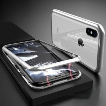 Shot Case Coque Verre Trempe IPHONE X Max (BLANC)