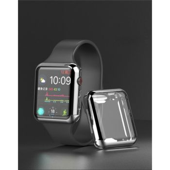 Shot Case Coque Silicone 38mm pour IWATCH (ARGENT)