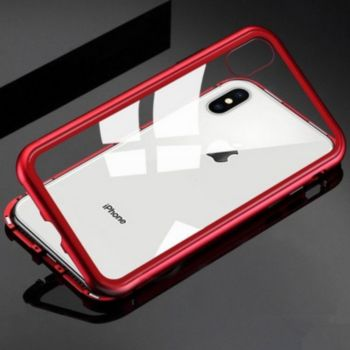 Shot Case Coque Verre Trempe IPHONE 7 + (ROUGE)