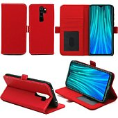 Housse Xeptio Redmi Note 8 PRO portefeuille rouge