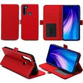 Housse Xeptio Redmi Note 8T portefeuille rouge
