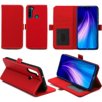 Xeptio Redmi Note 8T portefeuille rouge