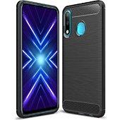 Coque Xeptio Huawei Honor 9X carbone noir