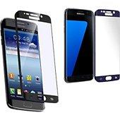 Protège écran Xeptio Samsung Galaxy S7 verre trempé full noir