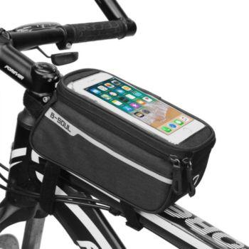 Shot Case Pochette Tactile Velo Smartphone (NOIR)