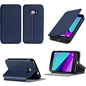 Housse Xeptio Etui Samsung Galaxy Xcover 4 4G bleu