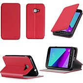 Housse Xeptio Etui Samsung Galaxy Xcover 4 4G rouge