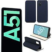Etui Xeptio Samsung Galaxy A51 Etui bleu Slim