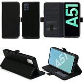 Housse Xeptio Samsung Galaxy A51 portefeuille noir