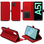 Housse Xeptio Samsung Galaxy A51 portefeuille rouge
