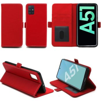 Xeptio Samsung Galaxy A51 portefeuille rouge
