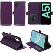 Housse Xeptio Samsung Galaxy A51 portefeuille violet