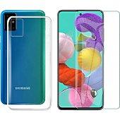 Protège écran Xeptio Samsung Galaxy A51 gel tpu et vitre