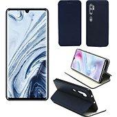 Etui Xeptio Xiaomi Mi Note 10 PRO Etui bleu Slim