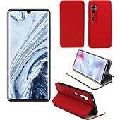 Etui Xeptio Xiaomi Mi Note 10 PRO Etui rouge Slim