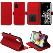 Housse Xeptio Samsung Galaxy S20 portefeuille rouge