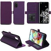 Housse Xeptio Samsung Galaxy S20 portefeuille violet