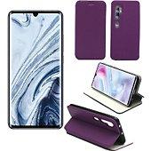 Housse Xeptio Xiaomi Mi 10 portefeuille violet