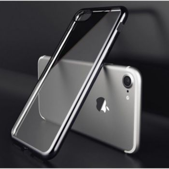 Shot Case IPHONE 8 Coque Chrome NOIR + Film