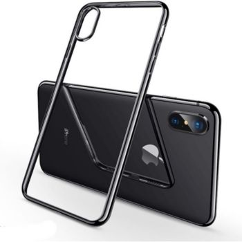 Shot Case IPHONE X Max Coque Chrome NOIR + Film
