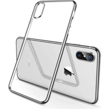 Shot Case IPHONE X Max Coque Chrome ARGENT + Film
