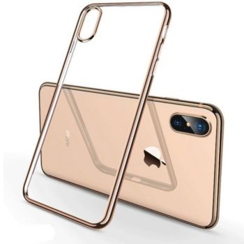Shot Case IPHONE Xr Coque Chrome OR + Film