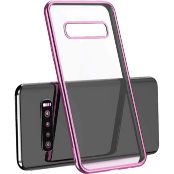 Shot Case SAMSUNG S10 Coque Chrome ROSE + Film