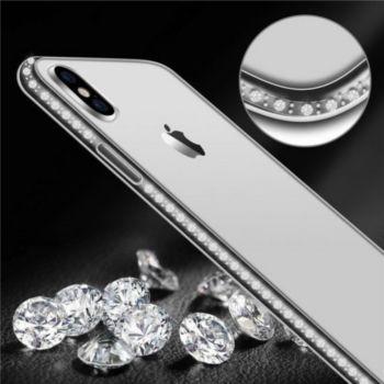 Shot Case IPHONE Xr Coque Diamants ARGENT + Film