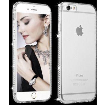 Shot Case IPHONE SE 2020 Coque Diamant ARGENT+Film
