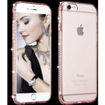 Shot Case IPHONE SE 2020 Coque Diamants ROSE +Film