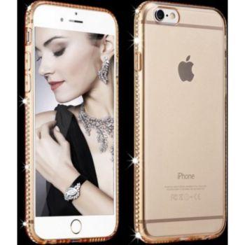 Shot Case IPHONE SE 2020 Coque Diamants OR + Film