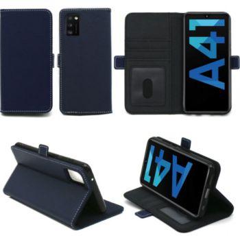 Xeptio Samsung Galaxy A41 portefeuille bleu